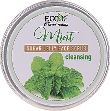 Fragrances, Perfumes, Cosmetics Cleansing Face Scrub with Mint & Sugar Jelly - Eco U Cleansing Mint Sugar Jelly Face Scrub