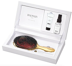 Fragrances, Perfumes, Cosmetics Set - Balmain Paris Hair Couture Luxurious Golden Spa (h/parfume/50ml + h/elixir/20ml + h/brush)