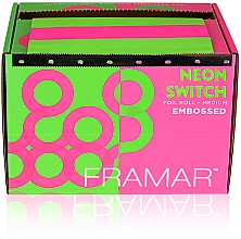 """Fragrances, Perfumes, Cosmetics Embossed Foil Roll """"Neon Switch"""", 98 m - Framar Embossed Roll Medium Neon Switch"""