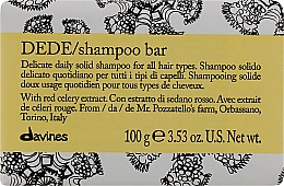Fragrances, Perfumes, Cosmetics Delicate Daily Solid Shampoo for All Hair Types - Davines Shampoo Bar