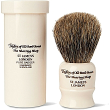 Fragrances, Perfumes, Cosmetics Shaving Brush, 8,5 cm, with travel case - Taylor of Old Bond Street Shaving Brush Pure Badger