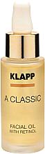 Fragrances, Perfumes, Cosmetics Retinol Face Oil - Klapp A Classic Facial Oil With Retinol