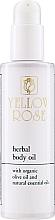 Fragrances, Perfumes, Cosmetics Nourishing Body Oil - Yellow Rose Herbal Body Oil