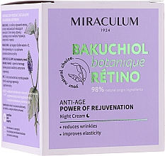 Fragrances, Perfumes, Cosmetics Facial Night Cream - Miraculum Bakuchiol Botanique Retino Anti-Age Cream