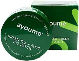 Fragrances, Perfumes, Cosmetics Green Tea & Aloe Eye Patch - Ayoume Green Tea + Aloe Eye Patch