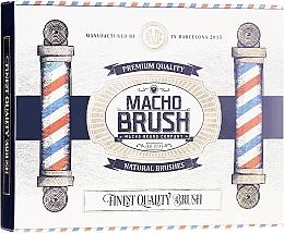 Fragrances, Perfumes, Cosmetics Beard Brush, oval - Macho Beard Company Macho Brush