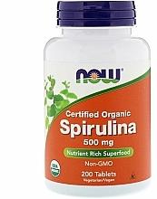 "Fragrances, Perfumes, Cosmetics Vegan Supplement ""Spirulina"" 500mg - Now Foods Certified Organic Spirulina"