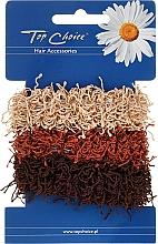 Fragrances, Perfumes, Cosmetics Elastic Hair Bands, brown, 3 pcs - Top Choice