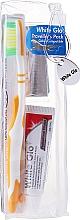 Fragrances, Perfumes, Cosmetics Oral Hygiene Travel Set, orange - White Glo Travel Pack (t/paste/24g + t/brush/1 + t/pick/8)