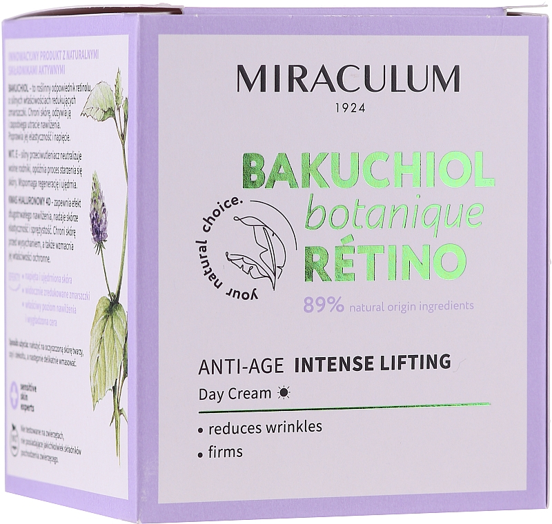 Facial Day Cream - Miraculum Bakuchiol Botanique Retino Anti-Age Intensive Lifting
