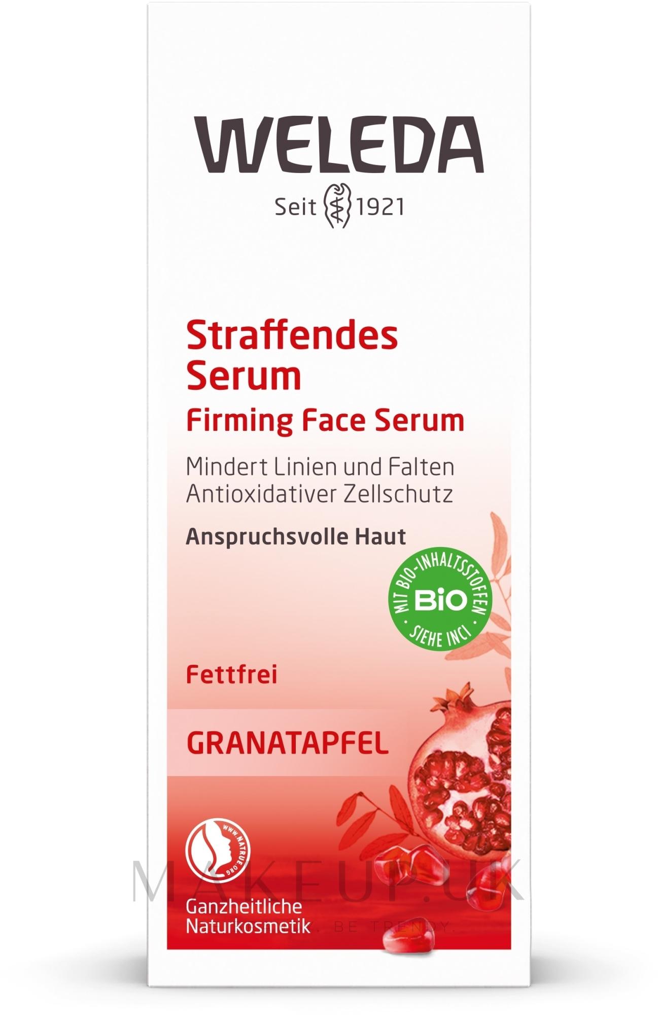 Pomegranate Intensive Lifting Serum - Weleda Pomegranate Firming Face Serum — photo 30 ml