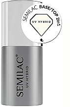 Fragrances, Perfumes, Cosmetics Gel Polish Base-Top Coat 2 in 1 - Semilac Base/Top 2in1