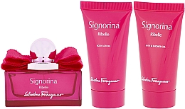 Fragrances, Perfumes, Cosmetics Salvatore Ferragamo Signorina Ribelle - Set (edp/50ml +sh/gel/50ml+ b/lot/50ml)