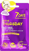 "Fragrances, Perfumes, Cosmetics After Sports Face Mask ""Active Thursday"" - 7 Days Active Thursday"