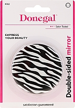 """Fragrances, Perfumes, Cosmetics Double-Sided Compact Mirror """"Zebra"""", white - Donegal Mirror"""