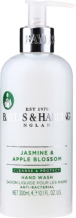 Hand Liquid Soap - Baylis & Harding Jasmine and Apple Blossom Anti-Bacterial Hand Wash