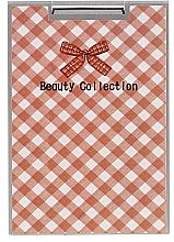 "Fragrances, Perfumes, Cosmetics Cosmetic Mirror, 85581 ""Kompakt Prostok Metal"", beige plaid - Top Choice"