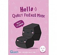 Fragrances, Perfumes, Cosmetics Charcoal Face Mask - Quret Hello Friends Mask Charcoal