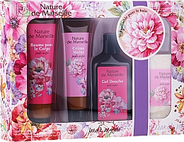 "Fragrances, Perfumes, Cosmetics Set ""English Garden"" - Nature de Marseille (b/balm/100ml + h/cr/60ml + show gel/150ml + soap/95g)"