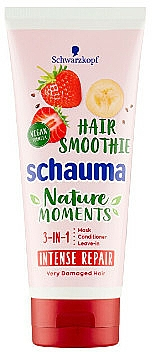 """Hair Mask 3in1 """"Strawberry, Banana and Chia Seeds"""" - Schwarzkopf Schauma Nature Moments Hair Smoothie 3in1 Intense Repair"""