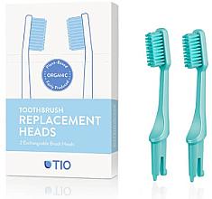 Fragrances, Perfumes, Cosmetics Brush Heads for Toothbrush, medium, turquoise - TIO Toothbrush Medium