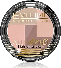 Fragrances, Perfumes, Cosmetics Blush - Eveline Cosmetics All In One Highlighter Blush