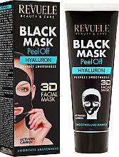 "Fragrances, Perfumes, Cosmetics Black Facial Mask ""Hyaluron"" - Revuele Black Mask Peel Off Hyaluron"