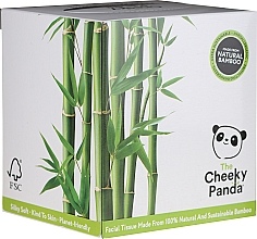 Fragrances, Perfumes, Cosmetics Bamboo Facial Dry Tissue, 56 pcs - Cheeky Panda Bamboo Facial Tissue Cube