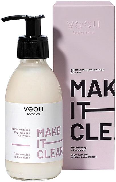 Face Cleansing Milk-Emulsion - Veoli Botanica Face Cleansing Milk Emulsion Make It Clear