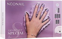 Fragrances, Perfumes, Cosmetics Set - NeoNail Professional First Step Smart Set (led/lamp + base/7.2ml + top/7.2ml + nail/polish/5x3ml + remover/50ml + nail/file + nail/cleaner/50ml)