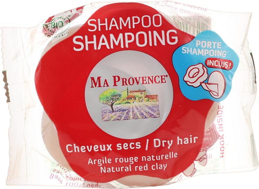 "Solid Bio Shampoo for Dry Hair ""Red Clay"" - Ma Provence Shampoo"