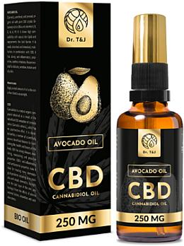 Natural Avocado Oil Bio CBD 250mg - Dr. T&J Bio Oil