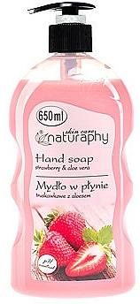 Liquid Hand Soap Strawberries and Aloe Vera - Bluxcosmetics Naturaphy Hand Soap