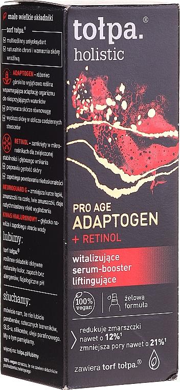 Revitalizing Lifting Facial Serum-Booster - Tolpa Holistic Pro Age Adaptogen + Retinol