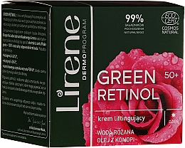 Fragrances, Perfumes, Cosmetics Lifting Day Cream for Face - Lirene Green Retinol Lifting Day Cream 50+