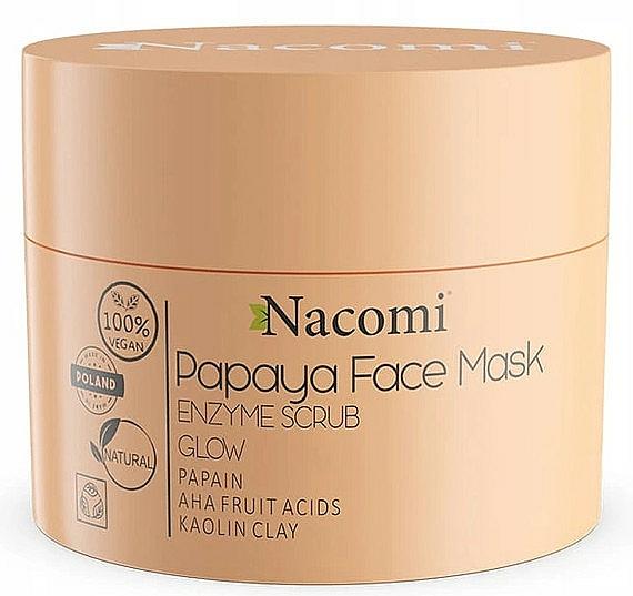 White Clay Scrub-Mask - Nacomi Papaya Face Mask Enzyme Scrub