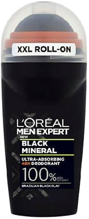 Roll-On Deodorant - L'Oreal Paris Men Expert Black Mineral Deo Roll-On