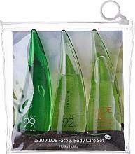 Fragrances, Perfumes, Cosmetics Set - Holika Holika Aloe Face And Body Care Set (foam/55ml + gel/55ml + sh/gel/55ml)