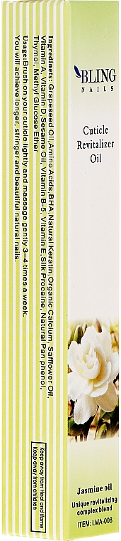 "Cuticle Oil ""Jasmine"" - Bling Nails Cuticle Revitalizer Oil Jasmine Oil"