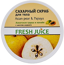"Fragrances, Perfumes, Cosmetics Sugar Body Scrub ""Asian Pear and Papaya"" - Fresh Juice Asian Pear & Papaya"