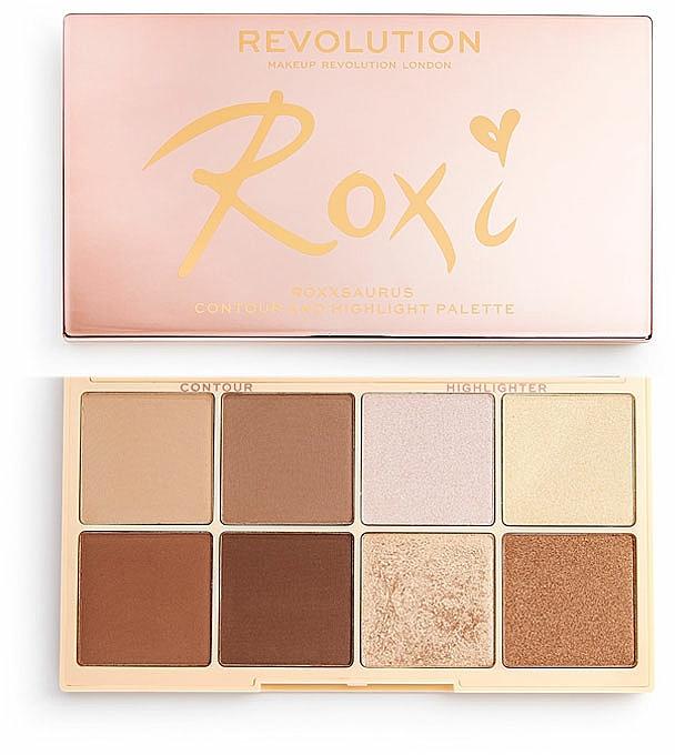 Makeup Palette - Makeup Revolution Roxxsaurus Roxi Highlight & Contour Palette