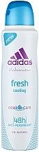 Fragrances, Perfumes, Cosmetics Deodorant - Adidas Anti-Perspirant Fresh Cooling 48h