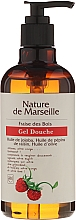 Fragrances, Perfumes, Cosmetics Shower Gel with Natural Oils and Wild Strawberry Scent - Nature de Marseille Strawberries Shower Gel
