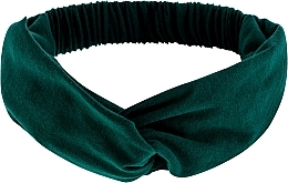 "Fragrances, Perfumes, Cosmetics Headband, Knit Cross, emerald, ""Knit Twist"" - MakeUp Hair Accessories"