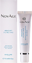 Fragrances, Perfumes, Cosmetics Brightening Eye Cream - Oriflame NovAge Bright Sublime
