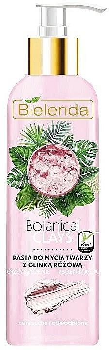 Pink Clay Face Paste - Bielenda Botanical Clays Vegan Face Wash Paste Pink Clay