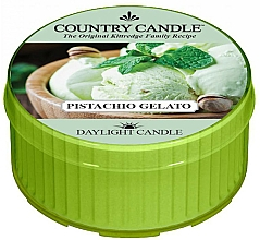 "Fragrances, Perfumes, Cosmetics Tealight ""Pistachio Ice Cream"" - Country Candle Pistachio Gelato Daylight"