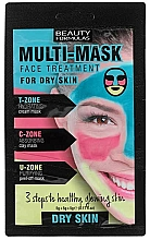 Fragrances, Perfumes, Cosmetics Face Mask for Dry Skin - Beauty Formulas 3-Step Multi-Mask Face Treatment For Dry Skin