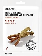 Fragrances, Perfumes, Cosmetics Facial Sheet Mask - Lebelage Red Ginseng Solution Mask
