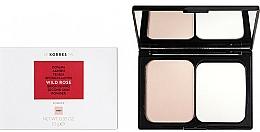 Fragrances, Perfumes, Cosmetics Brightening Face Powder - Korres Wild Rose Brightening Second Skin Powder